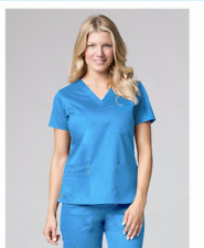 Maevn Medical Scrub Set Pants 9602/Top1302 Large New Pacific Blue/Yellow Reg 48