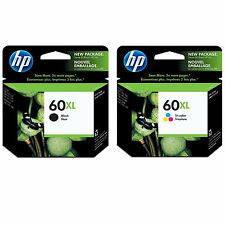 BOX 2017 / 2018 2-Pk GENUINE HP 60XL Black+Color CC641WN CC644WN Brand New OEM