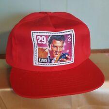 Vintage 1992 Elvis Presley Postage Stamp Snapback Trucker Hat