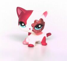 Littlest Pet Shop 2291 Pink White Glitter Eye Short hair Cat Kitty Lose LPS USA