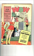 Wow # 9. First Appearance of Mary Marvel. 1/2 of Front Cover Missing. OW/W Pages