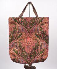 Vintage 1970'S Vibrant Paisley Tote Hand Bag /Purse
