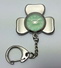 IRELAND IRISH SHAMROCK KEYRING KEY RING POCKET WATCH WITH CLOCK FACE