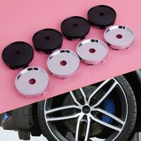 4pcs 60mm Chrome Plated Car Wheel Center Hub Caps Rim Hole Covers Set (no logo)