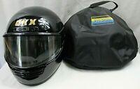CKX MOTOR CYCLE HELMET black size medium full face flip shield excellent cond.