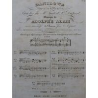 ADAM Adolphe Danilowa Opéra No 1 Chant Piano ca1840 partition sheet music score