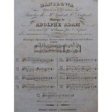 ADAM Adolphe Danilowa Opéra No 1 Chant Piano ca1840 partition sheet music score