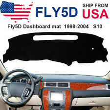 Fly5D Dashboard Pad Dash Cover Mat Pad For 1998-2004 Chevy Chevrolet S10 Black R