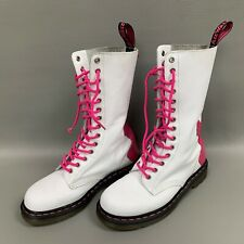 Dr Doc Martens Rocker Airwair Womens Boots Size 7 M White Pink AW004