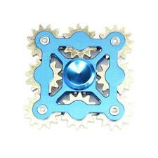 BLUE 9 GEARS LINKAGE FINGER SPINNER EDC HAND SPINNER KID ADULT STRESS RELIEF NEW