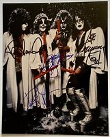 Kiss signed photo group autographed 8x10 gene paul ace peter chriss epperson loa