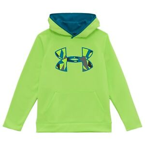 Under Armour Storm Green Camo UA Big Logo Hoodie KIDS size YSM