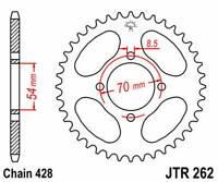R26240: JT SPROCKETS Corona JT 262 de acero con 40 dientes