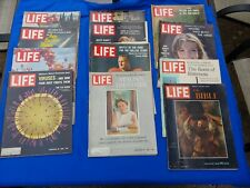Vintage  1960's Life Magazine Issues Lot Of 12 Vintage Ads. Key issues Kennedy