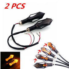2x Motorcycle Blinker Turn Signal Flowing Effect Light Motorrad LAUFEFFEKT Lampe