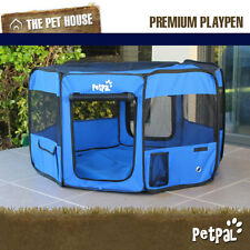 NEW CozyHome Medium soft petpal portable travel foldable exercise playpen - Blue