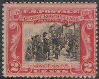 Scott# 651 - 1929 Commemoratives - 2 cents George Rogers Clark