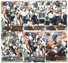 1997 Pacific Silver & Copper San Diego Chargers 6 card lot