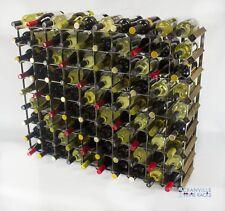 Cranville wine rack storage 90 bottle Walnut stain wood and metal assembled