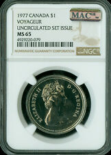 1977 Attached Jewel SWL CANADA $1 DOLLAR NGC MAC MS65 PQ SPOTLESS  *