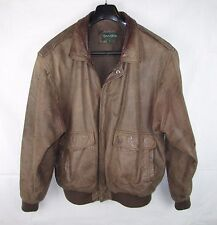 Saville Row Distressed Brown Leather Flight Bomber A2 Jacket Size Large Pilot