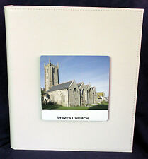 Large Wedding Anniversary photo Album personalised  front cover Cellini Gift #7