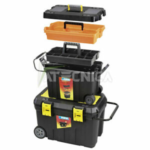 Series Of Trunks on Wheels Port Tools for Small Parts Fervi C081 Combo From 2pz