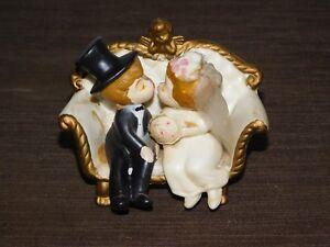 VINTAGE 1970 WILTON BRIDE GROOM WEDDING CAKE TOPPER