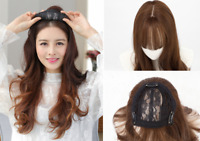 55CM Synthetic hair Topper Top Piece Women Hairpiece with bang Toupee Closure