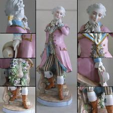 Magnificent Antique Porcelain Male Figurine Regal Rococo German French C1870
