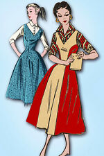 1950s Vintage Mail Order Sewing Pattern 3029 Uncut Teen Misses Jumper Dress 29B