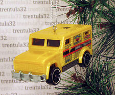 ARMORED TRANSPORT Car Truck CHRISTMAS TREE ORNAMENT Yellow XMAS