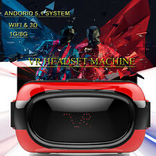 All in One VR Headset Android 5.1 Quad Core 8GB CPU Virtual Reality 3D Glasses