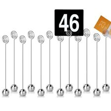 12 PCS Table Number Card Holders Photo Holder Stands Place Paper Menu Clip UK