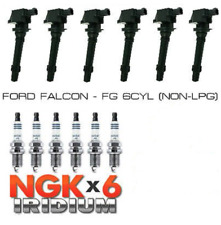 NGK Spark Plugs and Ignition Coil Pack KIT For Ford Falcon FG NON LPG IFR6T11