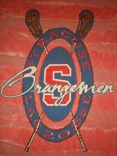 Vtg Brine Syracuse University Orangemen Lacrosse T Shirt Xl 2/Sided Tie Dye Nice