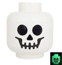 LEGO White GLOW-IN-THE-DARK Skeleton MINIFIGURE MINIFIG HEAD Sp@@ky! *** NEW ***