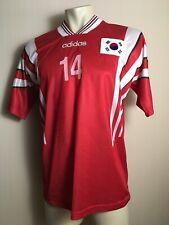 SOUTH KOREA OLYMPICS SOCCER FOOTBALL ADIDAS RED RARE SHIRT JERSEY ORIGINAL