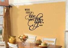 Where There Is Love There Is Life Gandhi Vinyl Decal Sticker Wall Letters Words