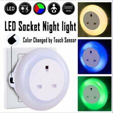 9 LED Plug In Colour Changing Night Light Nursery Kids Sensory Mood Lighting