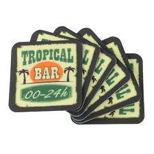 """6er Set Glasuntersetzer """"Tropical Bar"""" Glas-Untersetzer Tischset Garten Gläser"""