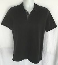 Burberry Brit Men's Black Short Sleeve Designer Polo Shirt Sz L
