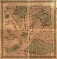 "24"" x 24"" 1858 Martenet's Map of Cecil County, Maryland"