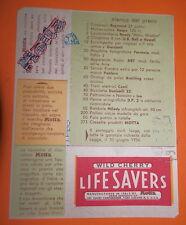 CARTOLINA MOTTA LIFE SAVERS BUONO PREMI 1956 WILD CHERRY PUBBLICITARIA CONCORSO
