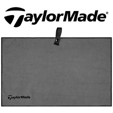 """NEW 2017"" TAYLORMADE TOUR GREY WAFFLE WEAVE MICROFIBRE 15"" x 24"" GOLF BAG TOWEL"