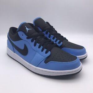 New Nike Air Jordan 1 Low University Blue Black 553558-403 Men's Size 11.5