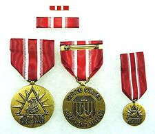 US Merchant Marine Atlantic Service Medal, set of 4