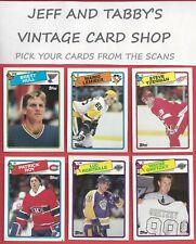 1988-89 TOPPS HOCKEY STARS & ROOKIES SEE SCANS