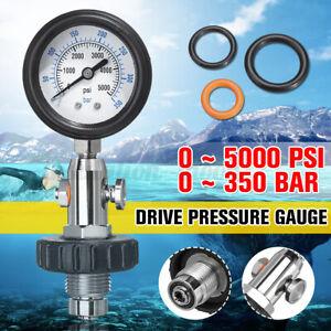 5000 PSI 350 Bar DIVE Cylinder Tank CONTENTS Analyser PRESSURE Check Gauge u  ¿