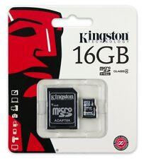 Kingston 16GB Micro SDHC Flash Memory Card Class 4 + Micro SD Adapter